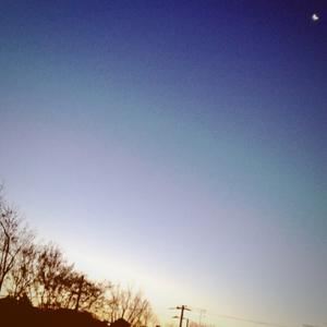 美しい朝が始まる瞬間
