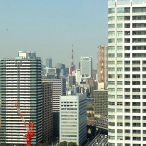 室内から見る東京タワー